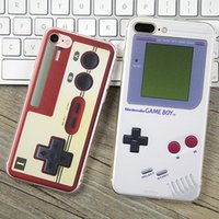 Wholesale Designer Case For Cell - Gameboy Phone Case TPU Ultrathin Creative Designer Calculator Game Console Patterns Cell Phone Cover For Iphone 8 5s SE 6 6s 7 Plus