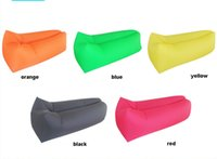 Wholesale Portable Outdoors air Sofa bag Inflatable sofa bed lazy bones beach sleeping bag lazy foldable washable Camping Beach seat sleeping sofa