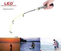 Wholesale Ice Fishing Rods - LEO Professional Gun Type Ice Fish Pole Fishing Rod Compound Fiber EVA handle 50 60cm Length Lightweight Automatic Fishing Rod +B