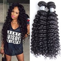 Peruvian Deep Curly Wave Hair Tisse 4Bundles Peruvian Virgin cheveux humains Bella Produits Dyeable Peruvian Deep Wavy cheveux Trame No Tangle