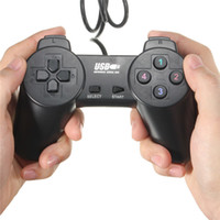Wholesale Pc Games Vista - Black USB 2.0 Wired Gamepad Joystick Joypad Gamepad Game Controller for PC Laptop Computer for XP for Vista