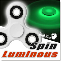 Wholesale Glow Lighting - Luminous Neon Fidget Spinner Hand Spinner Stress Reducer with Green Light Glowing in the dark Perfect For ADD ADHD Anxiety and Autism