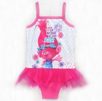 Wholesale Wholesale Childrens Bathing Suits - 2017 Big Girls One-Pieces Swimming Trunks Childrens Clothing Cartoon Teenages Girl Bikinis Bathing Suit Summer Beach Swimwear Kids Clothes