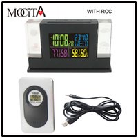 Wholesale Digital Power Station - MOCITA Wireless 433Hz RCC DCF Weather Station Kit Indoor Outdoor Hygro-thermometer Digital Clock Remote Transmitter Power Adapter