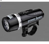 Wholesale Q5 Led Flashlight Bicycle - 5 LED Mountain Bike Cycling Light Head Lamp Light Super Bicycle Flashlight