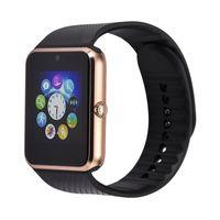 ingrosso guarda iphone sync-SmartWatch GT08 Notificatore di sincronizzazione orologio con scheda SIM Bluetooth Smart Watch per Apple iPhone IOS Samsung Android Phone