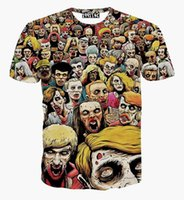 Wholesale Fashion For Short People - tshirt Skulls printed t-shirt summer tops for men boy short sleeve t shirt print Hell ghost people Hip Hop Tshirts G1062