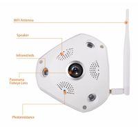 Wholesale Home Video Surveillance Systems Wireless - LS-QJ360 360 Degree VR Panorama Camera CCTV HD 960P Wireless WIFI IP Camera Home Security Video Surveillance System Camera Webcam ann