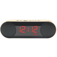 2017 Best Hand Free Calling Bookshelf Big Led Screen Clock Alarm Venta al por mayor Wireless Bluetooth Speakers para computadora, ordenador portátil, teléfono, Pad