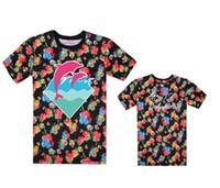 streetwear pink dolphin venda por atacado-Rosa golfinho t-shirt Dos Homens Do Esporte de Manga Curta leopardo Impresso Hip Hop Camiseta Homens Hipster Roupas tshirt Streetwear Camisetas Camisas de Alta qualidade