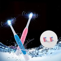 Wholesale Led Toothbrush - Wholesale Waterproof RechargableSoft Popular LED Light Sonic Electric Adult Home Using ToothBrush With Cap And Bamboo Fiber