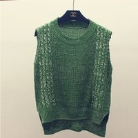 Wholesale Colorful Knitted Vest - Wholesale-NEW ARRIVAL 2016 women sweaters and pullovers colorful knitted winter sweater brand sweater vest autumn