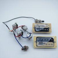 Wholesale potentiometers for sale - Group buy 1 Set Original Epi Standard PRO Alnico zebra Humbucker Pickup With Push Pull Switch Potentiometers Guitar Wiring Harness