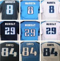 Wholesale Light Stops - Men's Tennessee Titan 8 Marcus Mariota 29 DeMarco Murray 84 Corey Davis Light Blue White Dark Blue elite Jerseys Best quality Jerseys