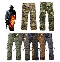 Wholesale Cargo Mens Wholesale - 2016 Worker Pants CHRISTMAS NEW MENS CASUAL MILITARY ARMY CARGO CAMO COMBAT WORK PANTS TROUSERS 11 COLORS SIZE 28-38#