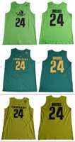 Wholesale Brook S - 2017 Oregon Ducks Dillon Brooks 24 College Basketball Jerseys Light Green Dillon Brooks Shirts Cheap MENS Stitched University Jersey
