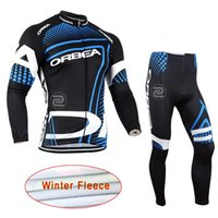 Wholesale Thermal Shorts Cycling - 2017 Team ORBEA Long Ropa Ciclismo Cycling Jerseys Sleeves Thermal Fleece Bicycle Clothing MTB Bike Clothes maillot ciclismo