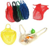 Wholesale Foldable Shopping Bag Multifuction Fruits Vegetable String Cotton Mesh Pouch For Sundries Juice Storage Bags Handbag Fashion