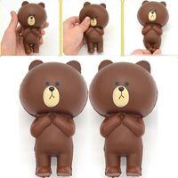 Wholesale Cute Brown Bear - Wholesale 12CM Rilakkuma Bear Jumbo Kawaii Cute Squishy Cartoon Slow Rising bread Soft Cake bun Sweet Charm Scented Kids Toy Gift