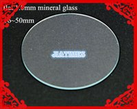 Wholesale Watch Flat - Wholesale-Wholesale 100pcs 1.0MM Thick Flat Mineral Watch Glass Select Size from 16mm to 50mm for Watchmakers and Watch Repair
