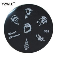 Wholesale YZWLE Sheet Stamping Nail Art Image Plate cm Stainless Steel Template Polish Manicure Stencil Tools B