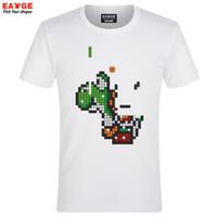 Wholesale Funny Cartoon Videos - Wholesale- Tetris Yoshi Building T Shirt Parody Cartoon Video Game Design Funny T-shirt Style Cool Fashion Casual Novelty Tshirt Unisex Tee