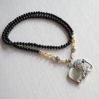 Wholesale Top Popular Necklaces - 1PCS Top quality Popular Necklace Women Beads Necklace Vintage Opal Elephant Crystal Link Chain Necklace