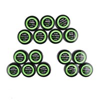 Wholesale Wholesale Wires - Flat twisted wire Fused clapton coils Hive premade wrap wires Alien Mix twisted Quad Tiger 10pcs box for RDA RDTA RTA