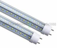 Wholesale Side Glow - 2017 T8 LED Tubes light V-Shape double glow both sides 4ft 36w 1.2m G13 LED fluorescent light AC85-265V CE UL RoHS MYY
