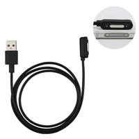 manyetik sony xperia toptan satış-Yeni Sony Xperia Z3 Z2 Için manyetik USB şarj kablosu Z1 Z3 mini şarj kablosu Adaptörü L39h L55H Z3 Kompakt Tablet mıknatıs kablosu