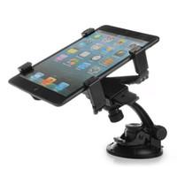 araba için tablet braketi toptan satış-Toptan-sıcak satış yeni araba styling Araç Cam Emme Montaj Dönebilen Tutucu Braketi Samsung Tablet GPS Siyah Için