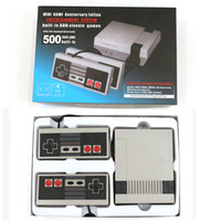 Wholesale Mini Handheld - New Arrival Mini TV Video Handheld Game Console Video Games Consoles Built-in 500 Classic Games For Nes Classic Games PAL&NTSC