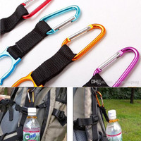 Wholesale Clip Water Holder - Free shipping 50pcs Locking Carabiner Clip Water Bottle Buckle Holder Camping Snap hook clip-on Clicp on