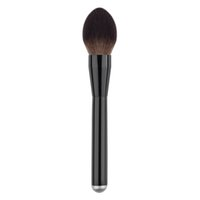 Wholesale Goat Big - Wholesale-1PC New Pro Kabuki Soft Goat Hair Brush Makeup Blush Big Power Face Contour Brush Foundation Make Up Tool Aluminum Brushes GUB#