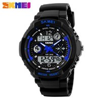 Wholesale wholesale watches skmei - Fashion Skmei Sports Brand Watch Men's Shock Resistant Quartz Wristwatches Digital And Analog Military LED Casual Watches