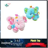 Wholesale Kids Musical Bells - Sozzy Newborn Baby Hanging Toys Cute Animal Elephant Shape Musical Pull Bell Plush Stroller Mobiles Baby Rattle Pram Bed Hanging Kids Toys