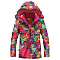 Wholesale Cheap Ladies Hoodies - Wholesale- Cheap good Colorful Women Skiing Clothing hoodie jacket Waterproof Windproof Ski Suit Ladies Snowboard Jackets Snow Suit