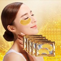 Wholesale Fine Clean - Gold Crystal Collagen Sleeping Eye Mask Hotsale Eye Patches Mascaras Fine Lines Face Care Skin Care OOA2147