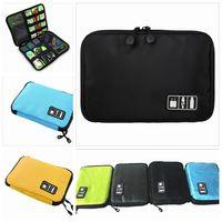 Wholesale Trunk Usb - Bubm Hard Drive Earphone Cables Usb Flash Drives Storage Travel Case Digital Cable Organizer Bag 5 colors 200 Pcs YYA221