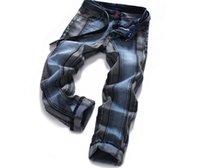 Wholesale Hot Pants Japan - Hot sale 2017 Men Jeans Brand men's jeans elastic Slim straight Pencil trouses Male pants Free shipping