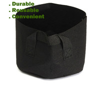 black garden pots - Round Non woven Fabric Pots Plant Pouch Root Container Grow Bag Aeration Flower Pots Container Garden Planters