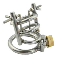 Wholesale Dick Metal Cage - Male Dick Bondage Arc Type Cock Ring Small Chastity Cage Metal Stainless Steel Cockring Penis Cage Chastity Device Sex Toys for Men G150