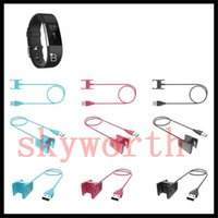 base cuna usb al por mayor-Fitbit Charge 2 Cargador MoKo Reemplazo del cargador USB Cable de carga Adaptador para la base de cradle Fitbit Charge 2 Frecuencia cardíaca 100CM 55CM