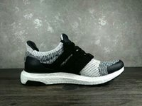 Wholesale Shipping Status - 2018 fashion SNS social status Ultra Boost 3.0 Core Black real boost Men Casual Shoes with box paper bags receipts ultraboost drop shipping
