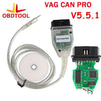 Wholesale Vag Obd Can - VAG CAN PRO V5.5.1 OBD OBD2 Diagnostic Cable for CAN BUS+UDS+K-line Support for VW Audi Seat VAG PRO S.W V5.5.1 with Dongle