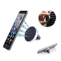 Universal Magnetic Air Vent Mount Holder para iPhone X 8 8Plus Desk Car Phone Holder Sticky para Samsung S6 Xiaomi GPS Smartphone