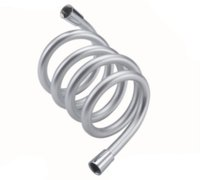 Wholesale hose online - Btheoom Bath m Flexible PVC Silver Water Shower Head Hose Replacement Pipe Connector Tube with rubber rings