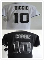 Hommes 10 Biggie Throwback Bad Boy Film Baseball Jersey Cousu Baseball Jerseys Taille S-XXXL