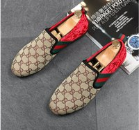 Wholesale Dress Party Promotion - 2017 Promotion New spring Men Velvet Loafers Party wedding Shoes Europe Style red black green Velvet Slippers Driving moccasins AXX450