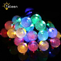 Wholesale El Wire Ac - Wholesale- TSLEEN NEW LED Strip 5M 10 Balls String Light El Wire Neon Party Patio Christmas Tree Halloween Decoration Home Outdoor Decor